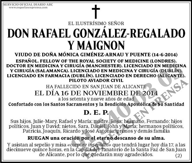 Rafael González-Regalado y Maignon